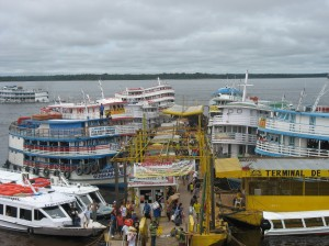 The Floating Dock on the Rio Negro