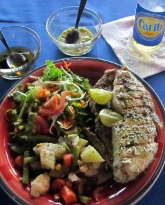 Grilled kingfish