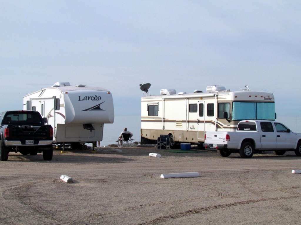 Last year this RV park was empty. Now we see many enjoying the view.