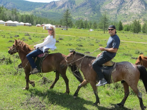 Riding horses in Gorkhi-Terelj National Park