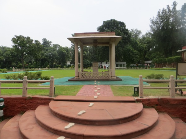 Where Gandhi took his last step...