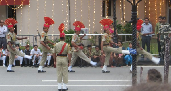 Indian soldiers doing a silly walk