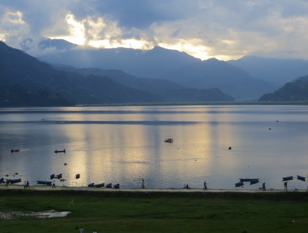 Phewa Tal - The view from our room in Pokhara