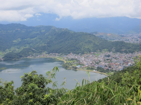 Pokhara from way high