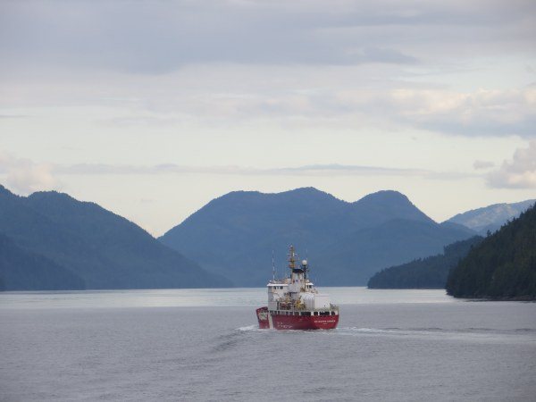 The peaceful waters of the Inside Passage