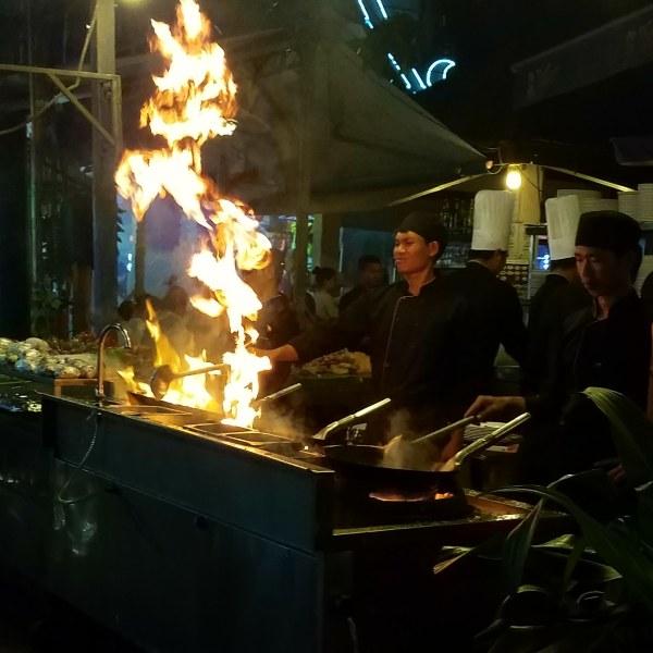Street cooking